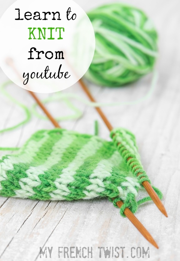 learn to knit from youtube with myfrenchtwist.com
