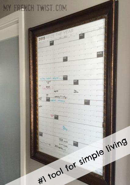 DIY calendar - best tool for simple living