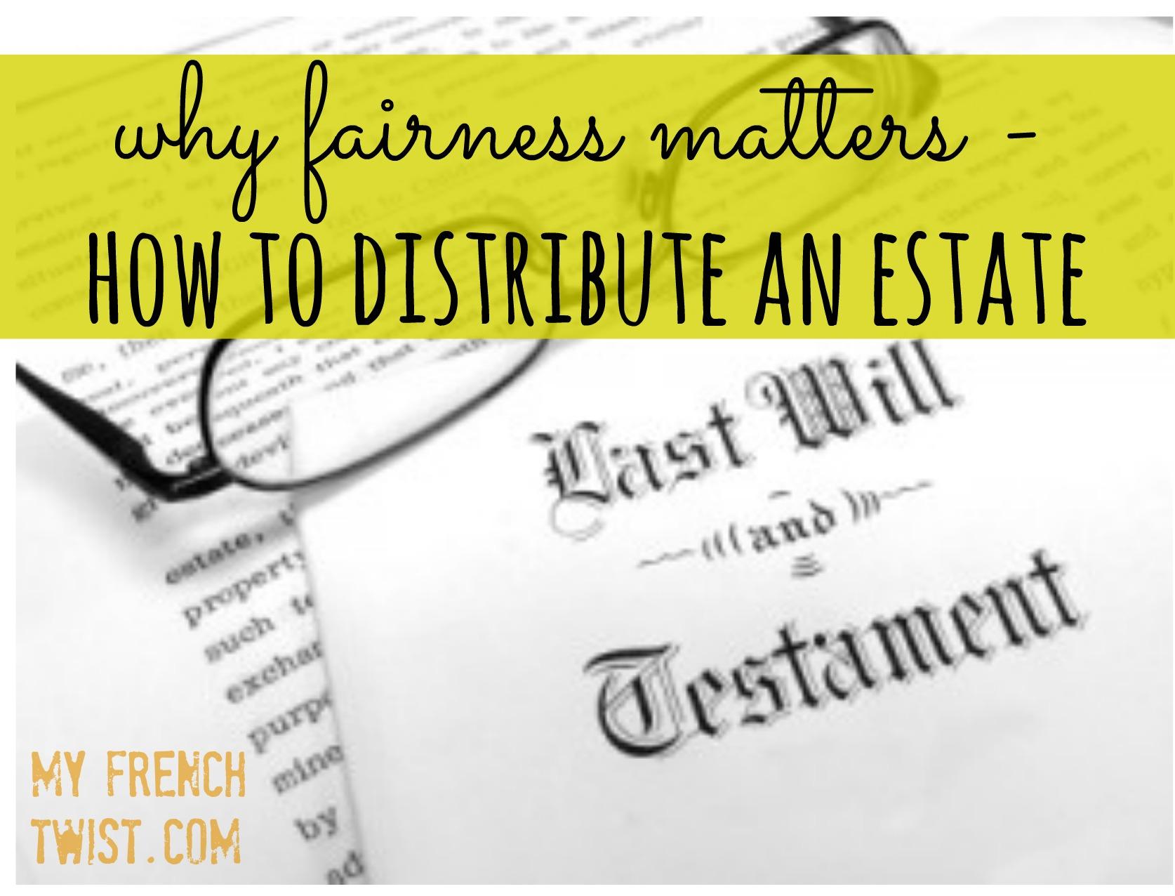distribute estate - my french twist