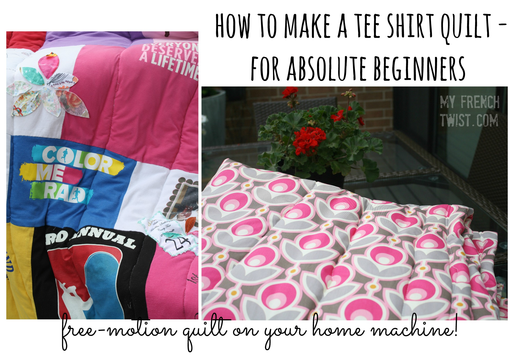 tee shirt quilt for beginners - my french twist