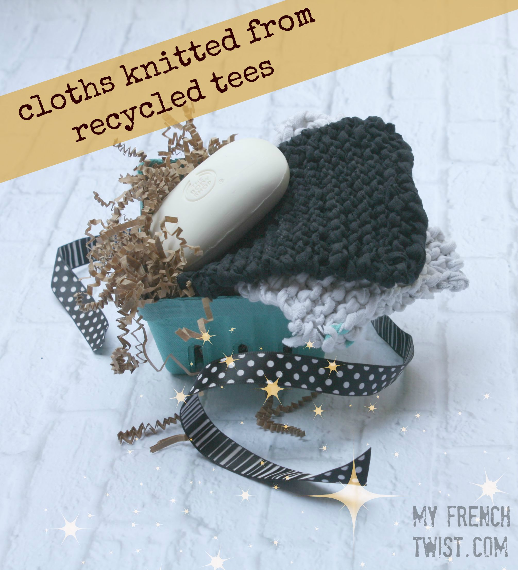 cloths knitted from recycled tees - my french twist