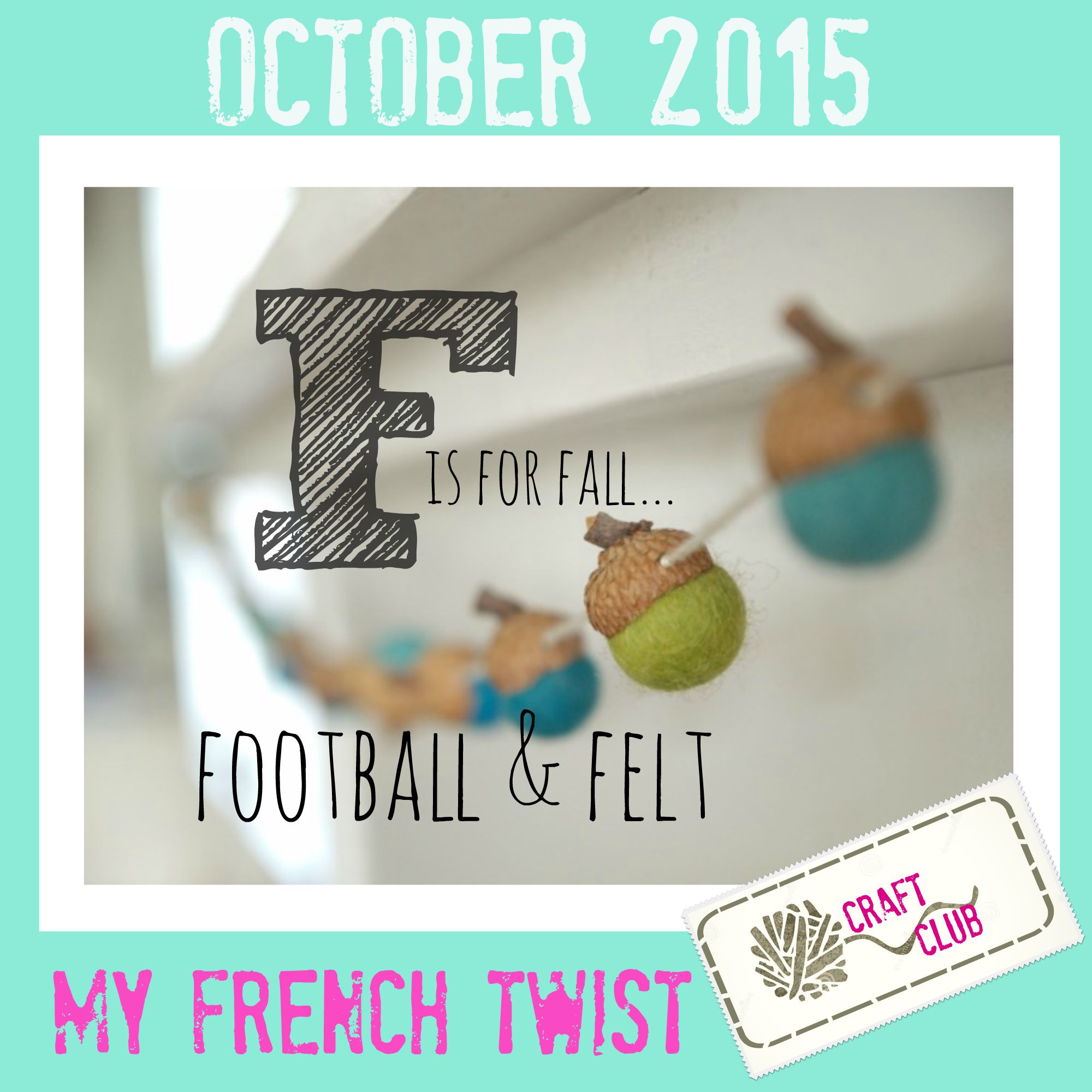 October craft challeng with My French Twist