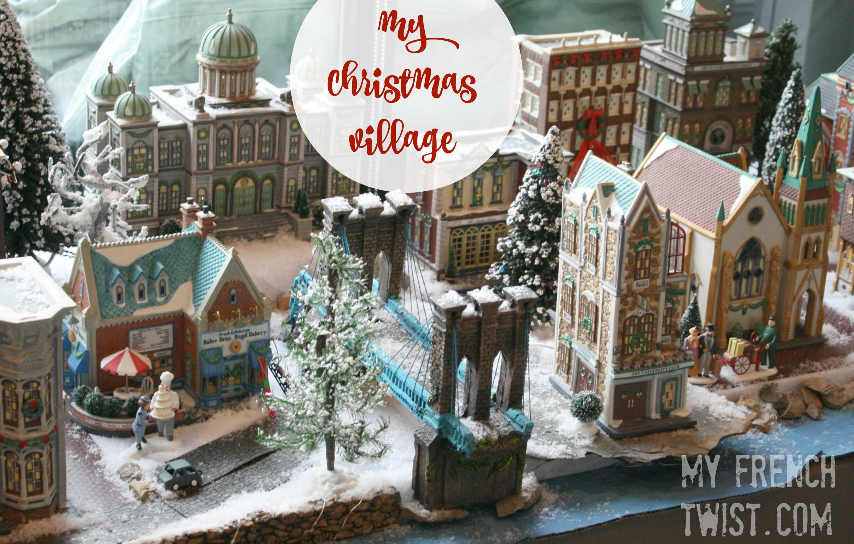 Setting Up A Realistic Christmas Village My French Twist