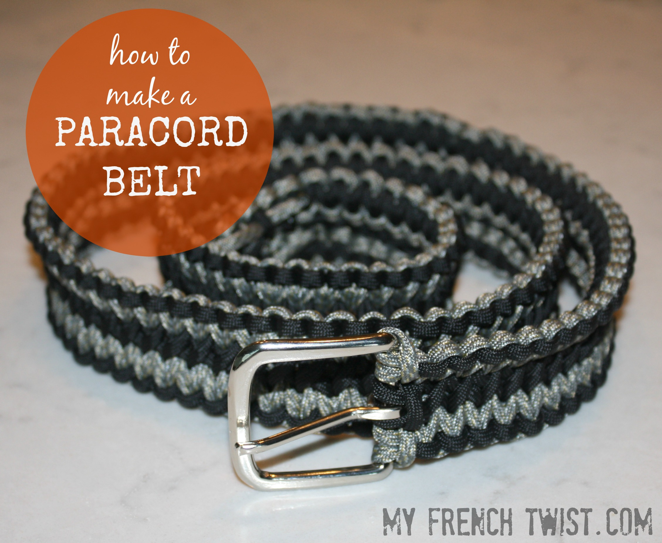 how to make a paracord belt my french twist