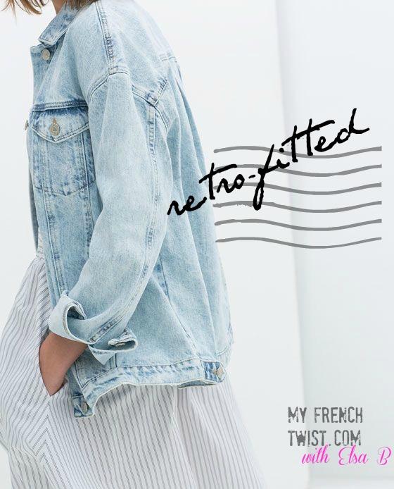 retrofitted jean jacket - myfrenchtwist.com