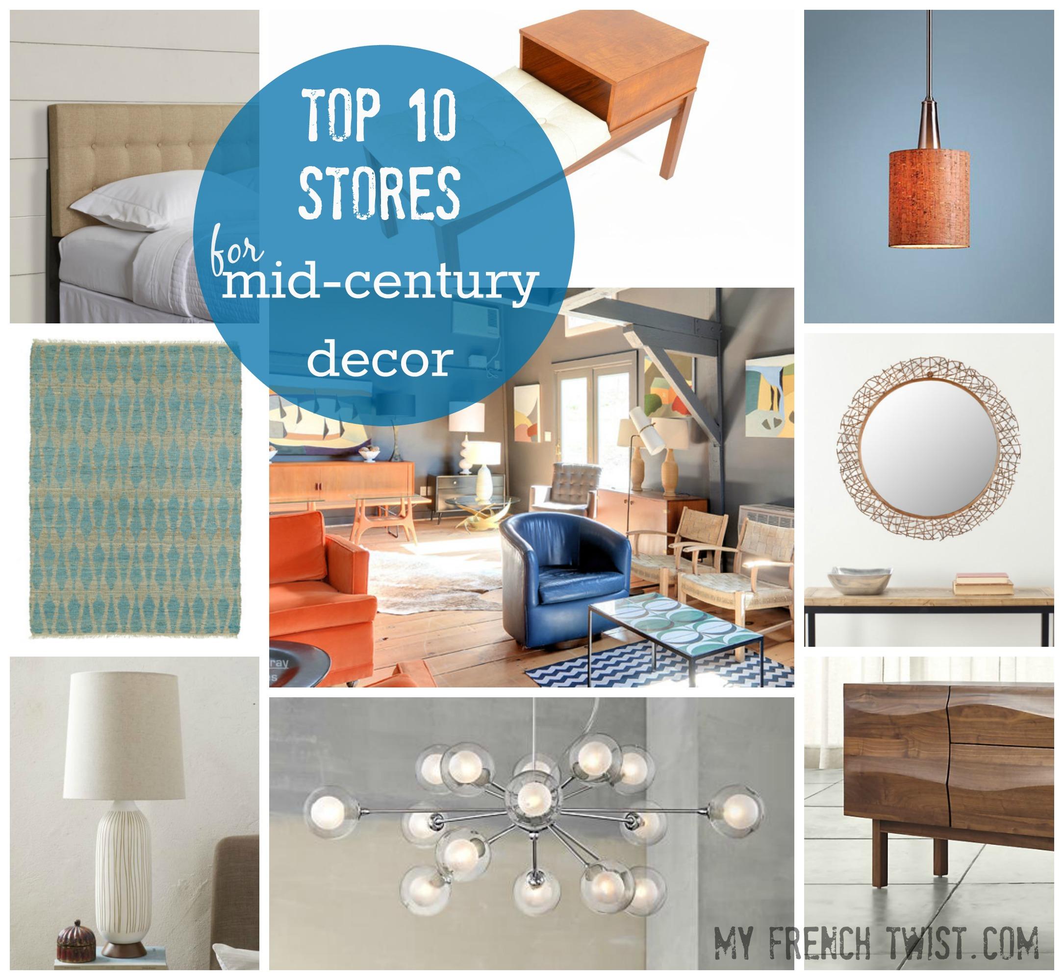 top 10 midcentury modern stores - myfrenchtwist.com  sc 1 st  My French Twist & Top 10 stores for midcentury modern decor - My French Twist