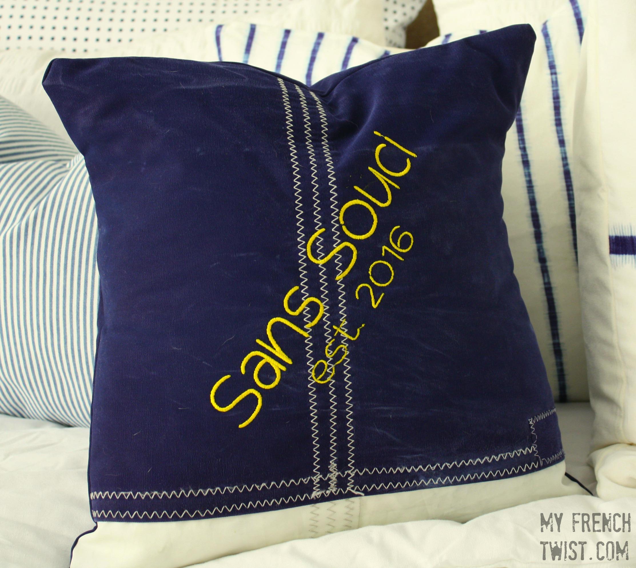 sailcloth pillow - myfrenchtwist.com
