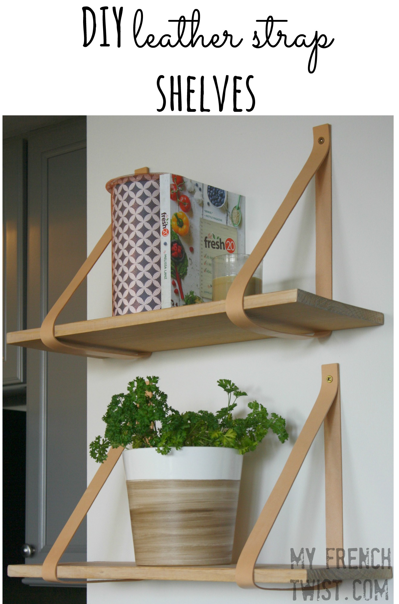 leather strap shelves - myfrenchtwist.com