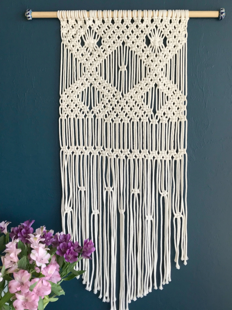 image about Free Printable Macrame Plant Hanger Patterns called macrame wallhanging for novices - My French Twist