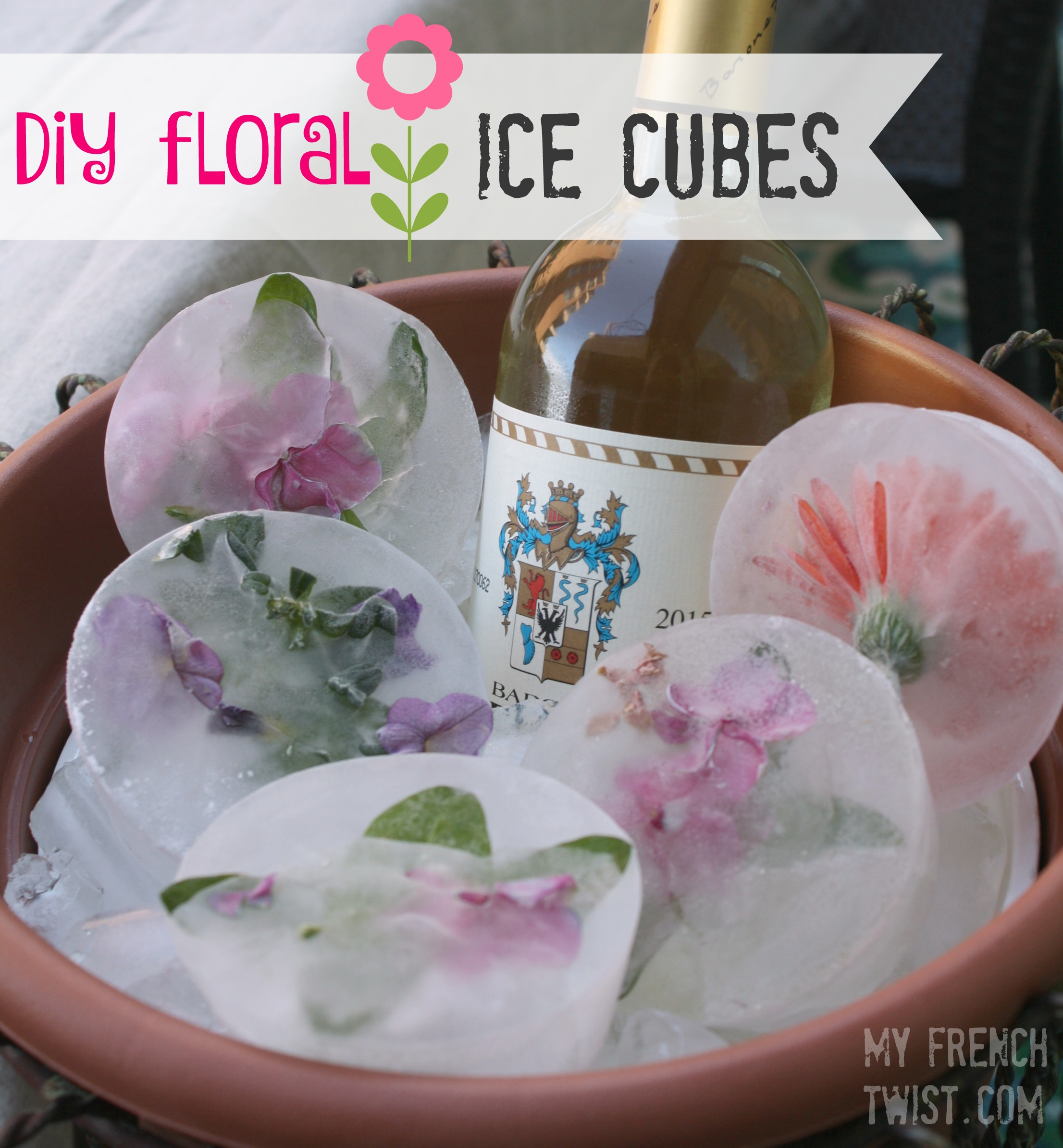 floral ice cubes - myfrenchtwist.com