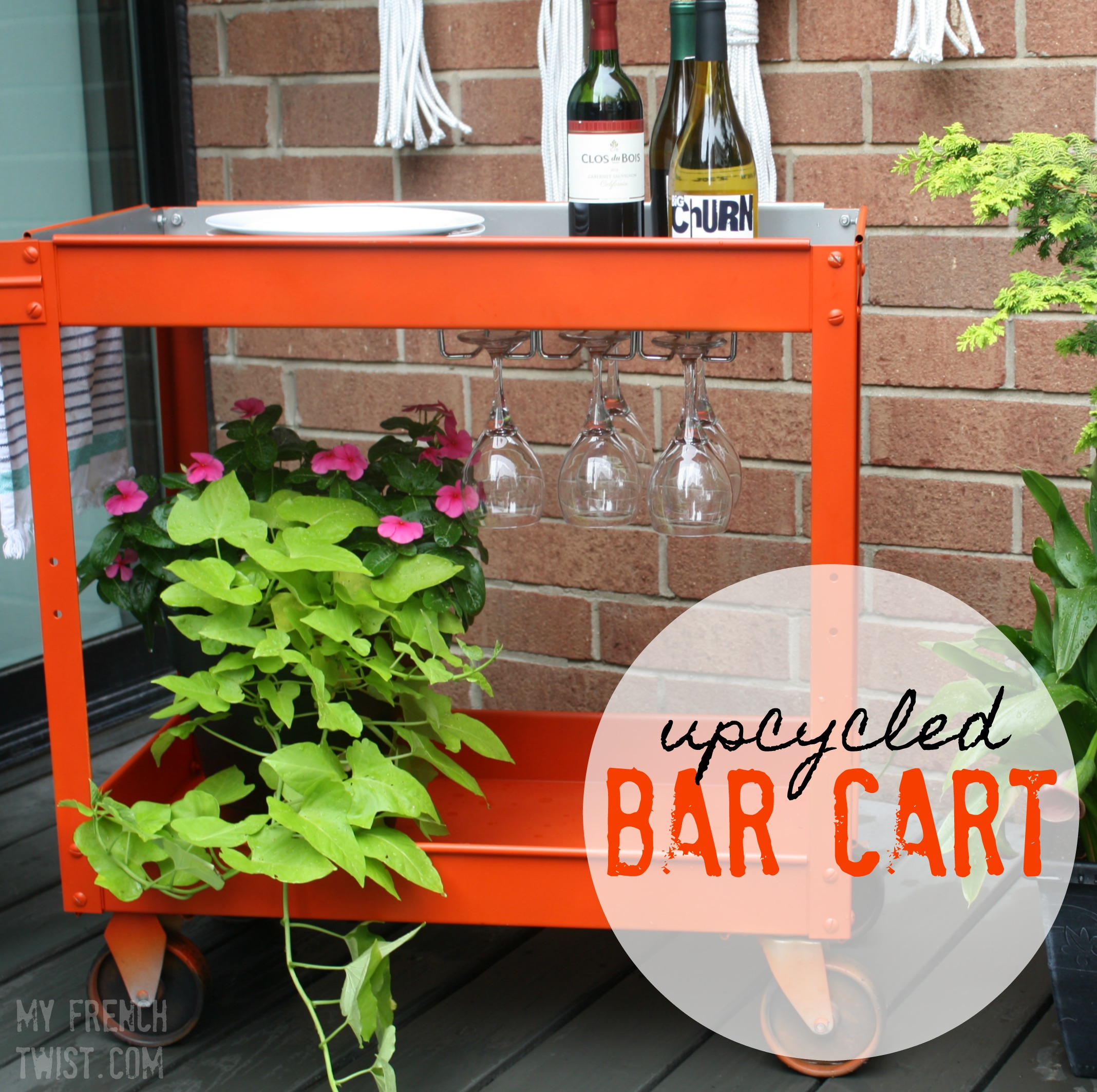upcycled bar cart - myfrenchtwist.com