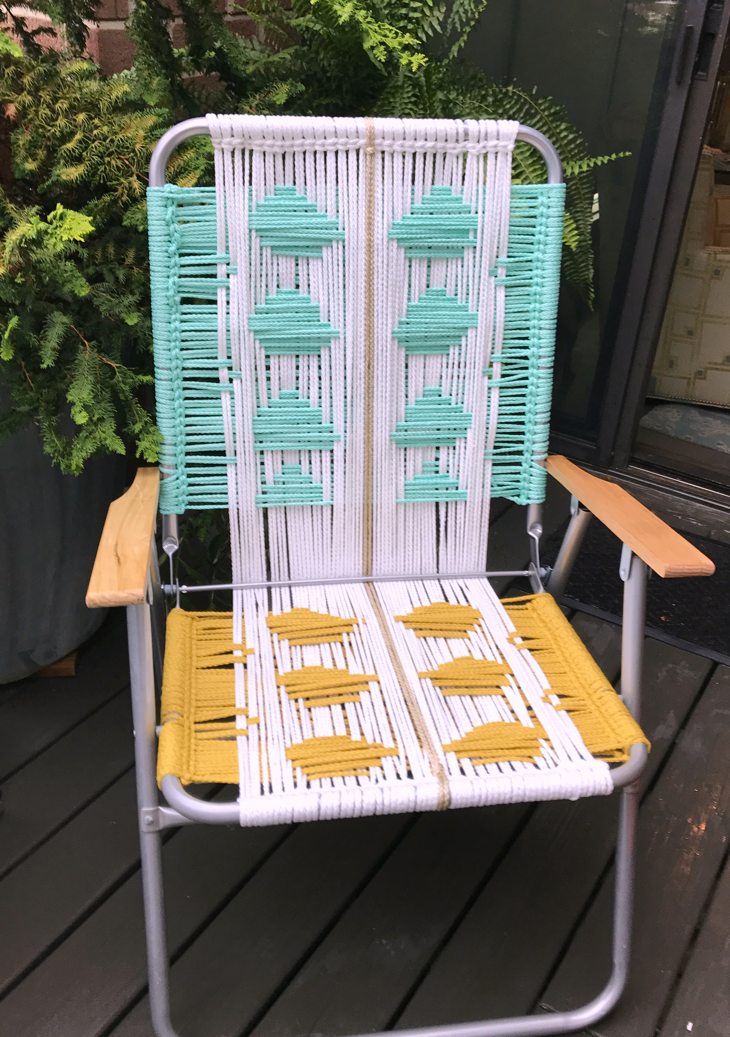 Macrame Lawn Chair Tutorial My French Twist