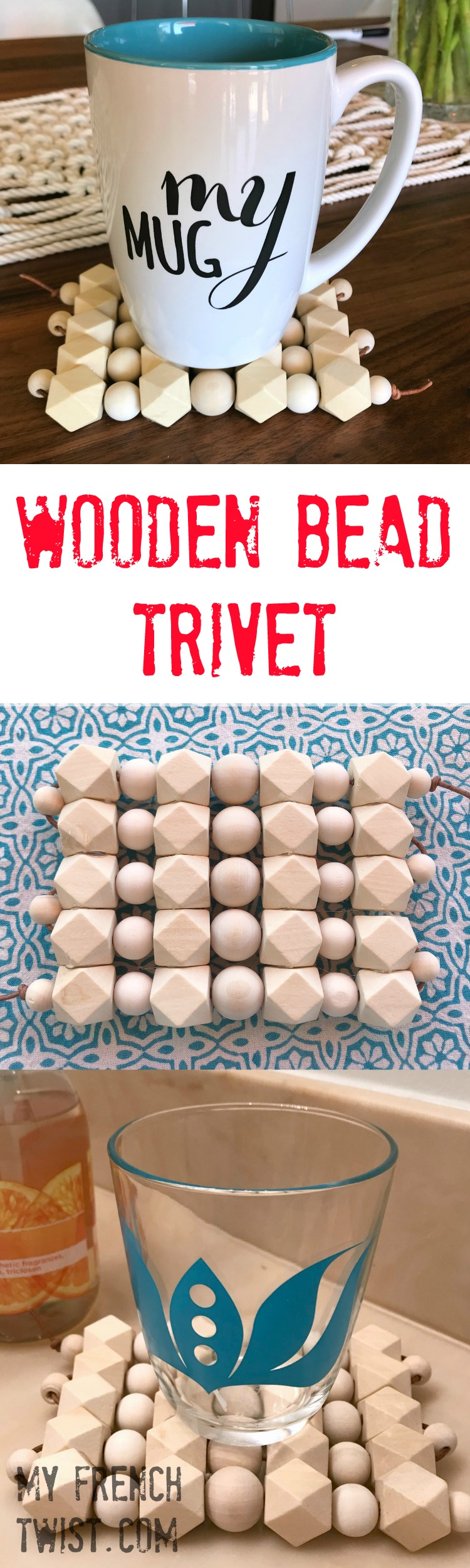 Wooden Bead Trivet My French Twist